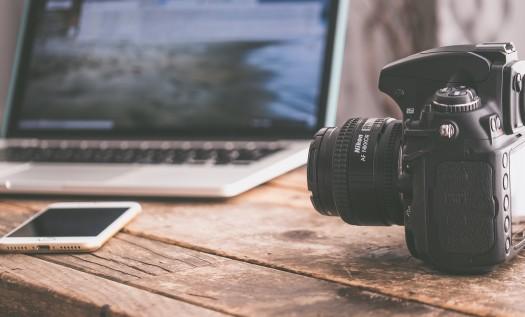 Presse - Kamera, Notebook